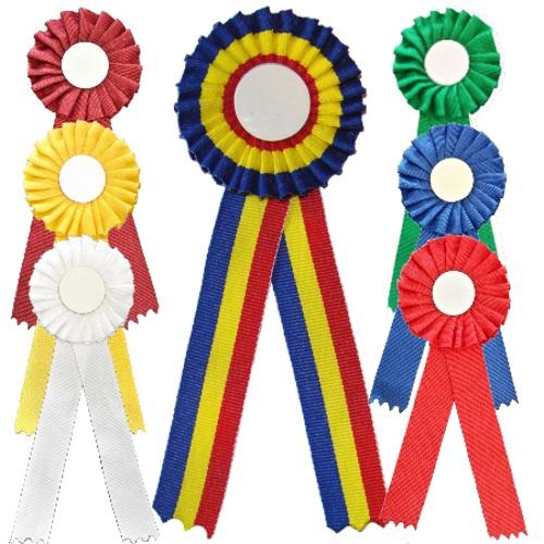 panglici standard, panglici imprimate, panglici role, cocarde, ecusoane, șnururi, brățară tricolor